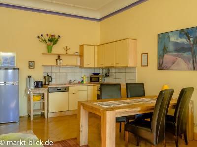 Küchenecke im Wohnzimmer