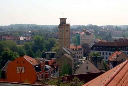 Blick auf Altenburgs Südosten mit Kunstturm