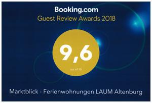 Unsere Ferienwohnungne bie Booking.com